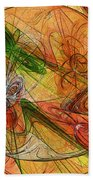 Abstract Color Swirls Bath Towel
