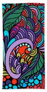 Abstract Colorful Floral Design Bath Towel