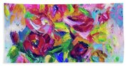 Abstract Colorful Flowers Bath Towel