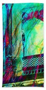 Abstract Colorful Window Balcony Exotic Travel India Rajasthan 1a Bath Towel