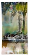 Abstract Contemporary Art Titled Humanity And Natures Gift By Todd Krasovetz  Bath Towel