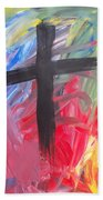 Abstract Cross Bath Towel