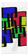 Abstract Cubicles Bath Towel