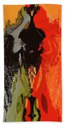 Abstract Dark Angel Bath Towel