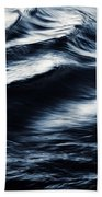Abstract Dark Blurred Ripples Bath Towel