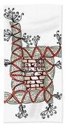 Abstract Design Of Stumps And Bricks Bath Towel