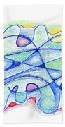 Abstract Drawing Sixty-five Bath Towel