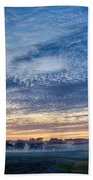 Abstract Early Morning Sunrise Over Farm Land Bath Towel
