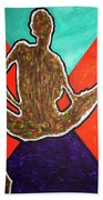 Abstract Ebony Nude Sitting Bath Towel