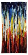 Abstract Fire And Ice Bath Towel