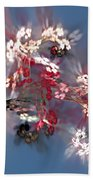 Abstract Floral Fantasy  Bath Towel