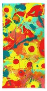 Abstract Floral Fantasy Panel A Bath Towel