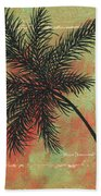 Abstract Floral Fauna Palm Tree Leaf Tropical Palm Splash Abstract Art By Megan Duncanson  Bath Towel
