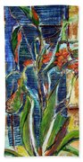 Abstract Floral Hand Towel