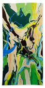 Abstract Flow Green-blue Series No.1 Bath Towel