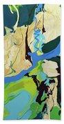 Abstract Flow Green-blue Series No.2 Bath Towel