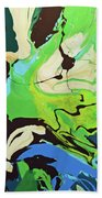 Abstract Flow Green-blue Series No.3 Bath Towel