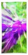 Abstract Flowers Bath Towel