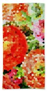 Abstract Flowers Bath Towel