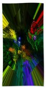 Abstract Garden Bath Towel
