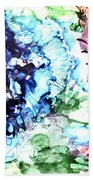 Abstract Garden Hand Towel