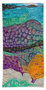 Abstract Garden Of Thoughts Bath Sheet by Julia Apostolova