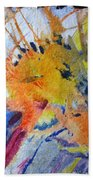 Abstract Gold Hand Towel