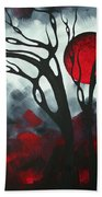 Abstract Gothic Art Original Landscape Painting Imagine I By Madart Bath Towel