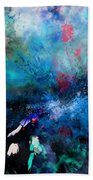 Abstract Improvisation Bath Towel by Wolfgang Schweizer