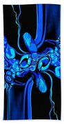 Abstract In Blue 3 Bath Towel