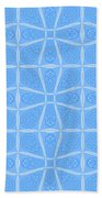 Abstract In Blue Bath Towel