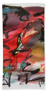 Abstract Landscape Sketch13 Bath Towel