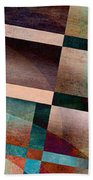 Abstract Lines And Shapes Bath Towel