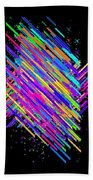 Abstract Lines Bath Towel
