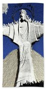 Abstract Lutheran Cross 5a1 Bath Towel