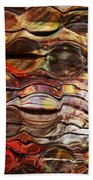 Abstract Magnified Lines Bath Towel