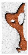 Abstract Monster Cut-out Series - Orange Slither Bath Towel