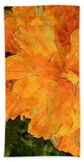 Abstract Motif By Yellow Daffodils Hand Towel