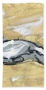 Abstract Nude Bath Towel
