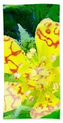 Abstract Of A Wild Buttercup Flower Bath Towel