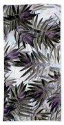 Abstract Of Low Growing Evergreen Shrub Bath Towel
