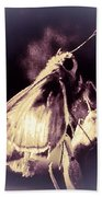 Abstract Of Skipper Butterfly Bath Towel