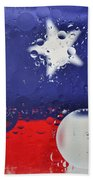 Abstract Stars And Stripes Bath Towel