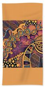 Abstract Pattern With Purple Bath Towel