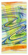 Abstract Pen Drawing Forty-one Bath Towel