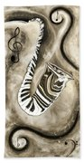 Piano Keys In A Saxophone 3 - Music In Motion Bath Towel