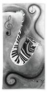 Piano Keys In A Saxophone 4 - Music In Motion Bath Towel