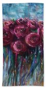 Abstract Roses Bath Towel