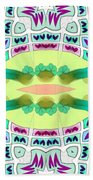 Abstract Seamless Pattern  - Yellow Blue Turquoise Purple Pink White Green Bath Towel