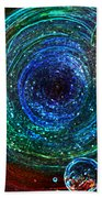 Abstract Space Art. Sparkling Antimatter Bath Towel